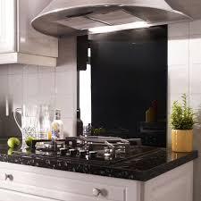 credence en verre trempé pour cuisine credence verre noir 900x650mm crédences et fonds de hotte