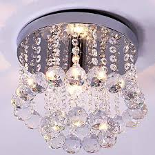 Crystal Flush Mount Ceiling Light Fixture by Crystal Flush Mount Ceiling Light Foyer E14 Lamp Holder