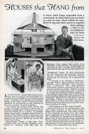 Buckminster Fuller Dymaxion House Houses That Hang From Poles Modern Mechanix