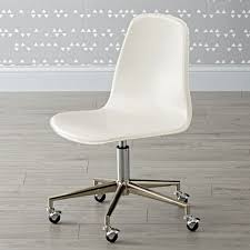 Desk Chair White Dark Blue Silver Class Act Desk Chair The Land Of Nod