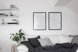 decordots scandinavian living room city map posters from