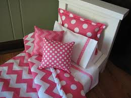 Polka Dot Bed Sets by Bedroom Pink Twin Size Chevron Bed Set With Polka Dot Pillow