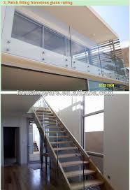 Frameless Glass Handrail Rational Construction Frameless Glass Railing With Aluminum U