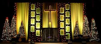 lines of christmas text church stage design ideas