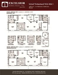 schult modular home floor plans schult timberland 7632 406 1 excelsior homes west inc