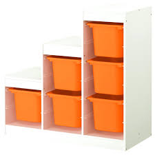 trofast storage combination white orange width 39 depth 17 3ikea
