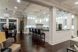 kitchen scott arthur millwork cabinetry custom cabinets white wainscoting on island back with millwork columns
