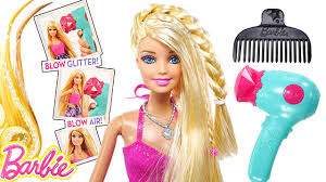 barbie glitter blow dryer barbie doll hair tastic styling playset