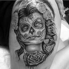 Day Of The Dead White 90 Best Day Of The Dead Tattoos Designs U0026 Meanings 2017