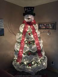 snowman christmas tree how to make a snowman christmas tree crafty morning