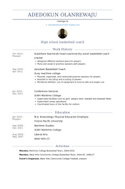 Coaching Resume Objective Examples by Amazing Basketball Resume Examples 91 For Good Resume Objectives