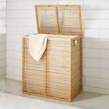 double laundry hamper with lid bamboo laundry hamper double u2014 sierra laundry moving bamboo