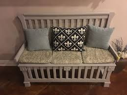 Bench 8 How To Repurpose Baby Crib To Entryway Bench 8 Steps With Pictures