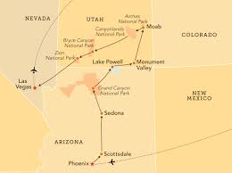 Utah Map National Parks by Southwest National Parks The Ohio State University Alumni