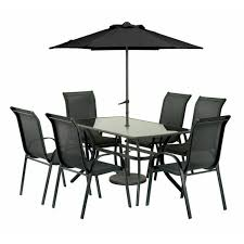 Patio Table And 6 Chairs Buy Amir Royalcraft Cayman 6 Seater Rectangular Anthracite Patio