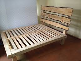 Bed Frame Build Build A Wooden Bed Frame Images And Fascinating Wood Headboard