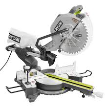 compound miter saw vs table saw ryobi 15 amp 12 in sliding miter saw with laser tss120l the home