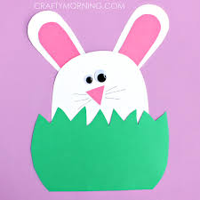 green paper easter grass paper bunny hiding in the grass family crafts