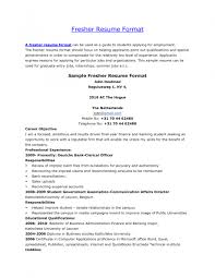 Example Of Resume Summary For Freshers Resume Sample For Fresher Job Templates