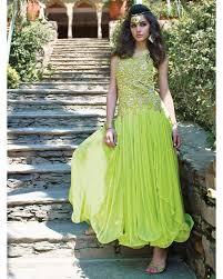 soft net semi stitched golden peti work designer gowns