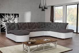 canape gris d angle canapé d angle modulable en tissu gris blanc cordoba canapé d