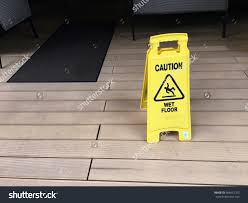 Wet Floor Images by Wet Floor Warning Yellow Signage Caution Stock Photo 609412703