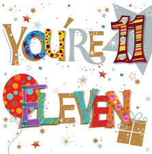 you re eleven 11th birthday greeting card cards kates