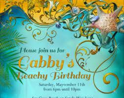 birthday beach invitation birthday invitation birthday