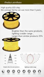 brightest led strip light 10m 220v waterproof led strip ligh with waterproof connector eu us