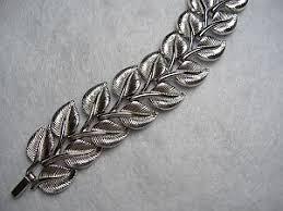 silver leaf bracelet images Signed vintage costume bracelets silver leaf bracelet signed trifari jpg