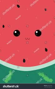 cute face watermelon fruit view inside stock vector 725227432