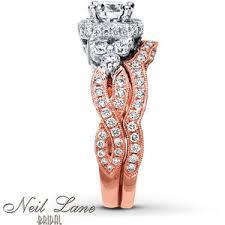 neil bridal set neil bridal set 2 ct tw diamonds 14k two tone gold polyvore