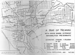 newark map ethnic map of newark neighborhoods 1911 image newjerseyalmanac