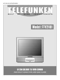 telefunken ttv2181 user manual compact disc dvd