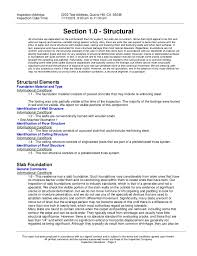 Field Inspection Report Template by Sle Home Inspection Report