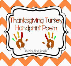mrs grade free thanksgiving turkey handprint poem