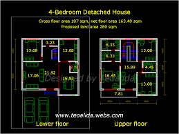 2 floor house plans autocad homes zone