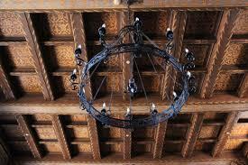 Metal Chandelier Free Stock Photo Of Black Metal Chandelier On Wood Ceiling