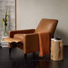 Tan Leather Chair Sale Sedgwick Leather Recliner West Elm