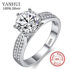 rings zirconia images Buy yanhui 100 real natural 925 sterling silver jpg