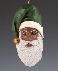 carved black santa ornament sold out unavailable santa