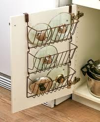 kitchen cabinet door pot and pan lid rack organizer kitchen cabinet door 3 tier wire lid rack storage organizer walmart