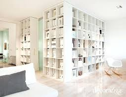 bookcase room dividers white bookshelf used s a room divider