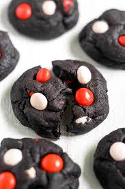 dark chocolate halloween cookies thestayathomechef com