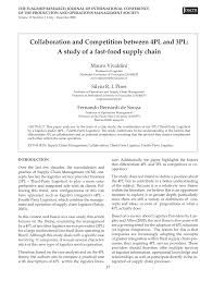3pl Study The State Collaboration And Competition Between 4pl Pdf Available