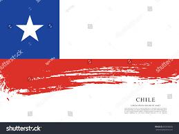 Chile Santiago Flag Flag Chile Brush Stroke Background Stock Vector 655938595