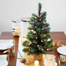 led light up tabletop tree west elm