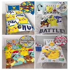 Duvet Covers Kids Pokemon Duvet Cover Sets Kids Bedding Reversible Single U0026 Double