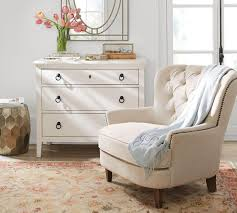 Tufted Upholstered Chairs Cardiff Tufted Upholstered Armchair Ivory Pottery Barn Au