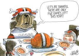 thanksgiving cartoon videos cleveland browns u0027 fans thanksgiving and thankfulness crowquill